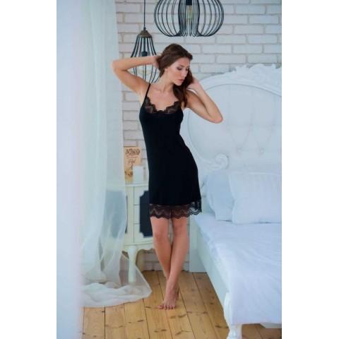 Сорочка женская черная Effetto